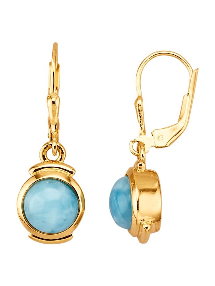 Ohrringe mit Larimaren, Blau