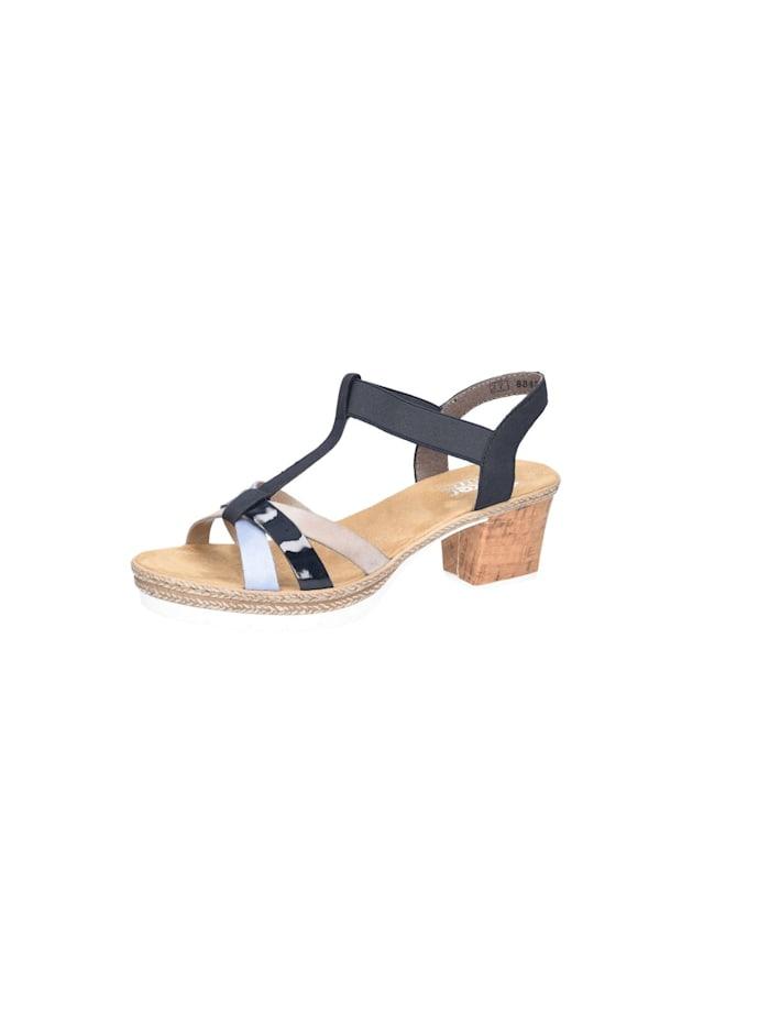 Rieker Sandalen/Sandaletten, blau