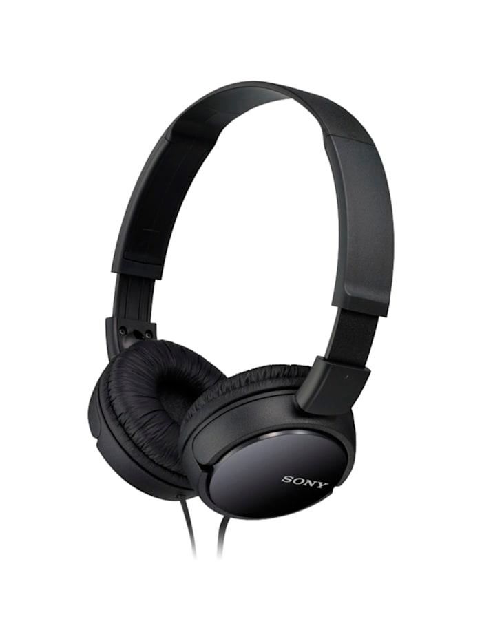 Sony Kopfhörer MDR-ZX110B HEAD ON, Schwarz