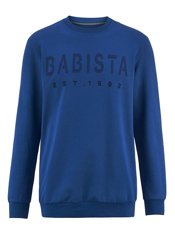 BABISTA Sweat-shirt à intérieur très doux, Bleu