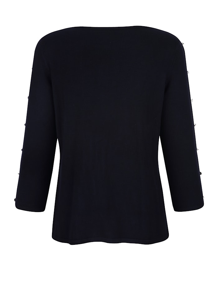 Pull-over avec ajours aux manches