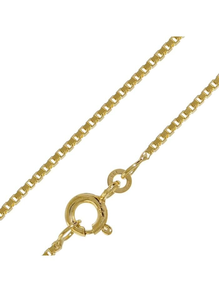 trendor Halskette 333 Gold Venezia für Damen und Herren, Breite 1,2 mm, Goldfarben