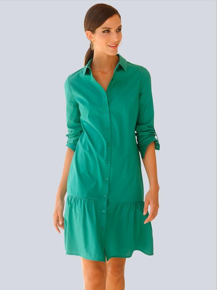 Alba Moda Kleid mit Rockvolant, Grün