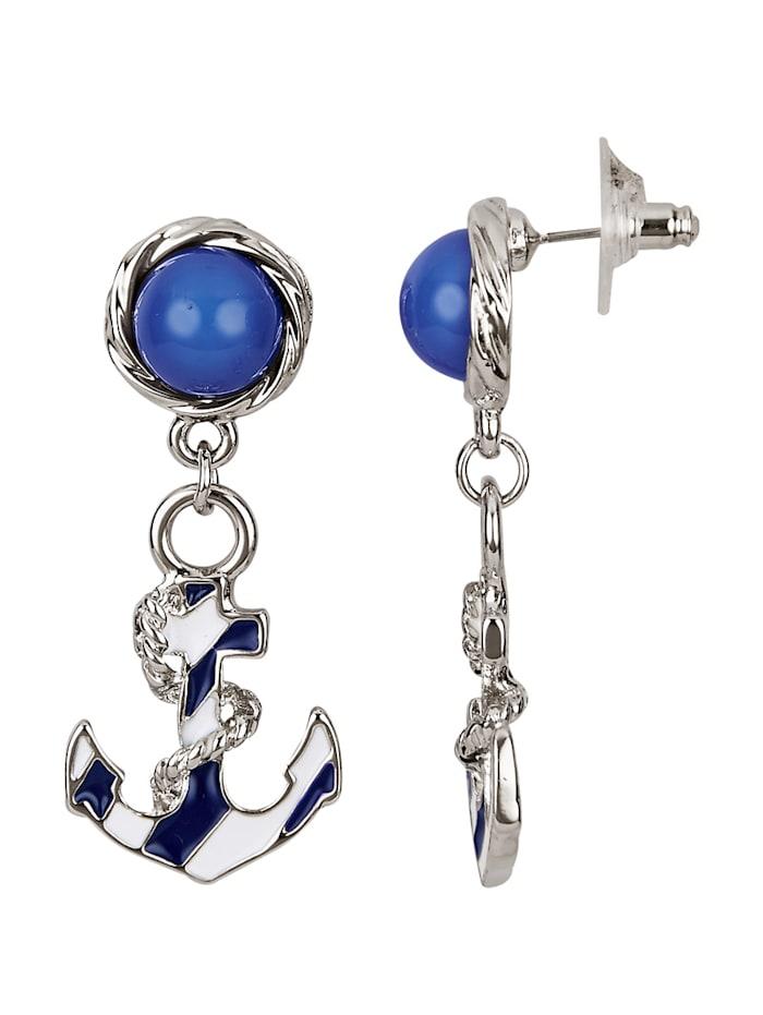 Boucles d'oreilles, Bleu