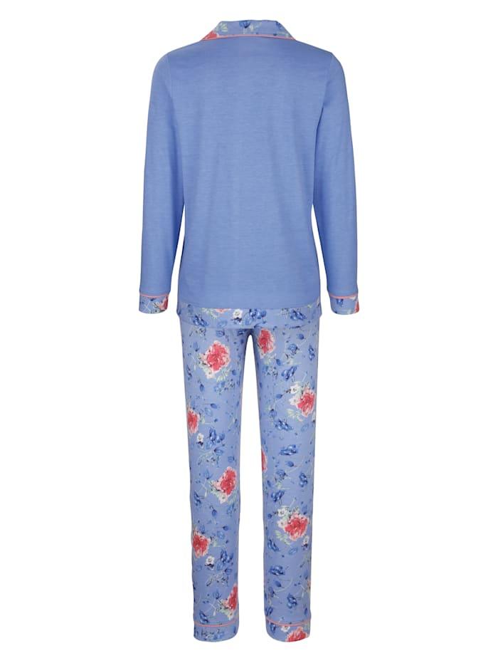 Pyjama avec poche poitrine imprimée