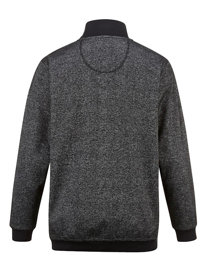 Sweatshirt met modieuze inzetten van weefstof