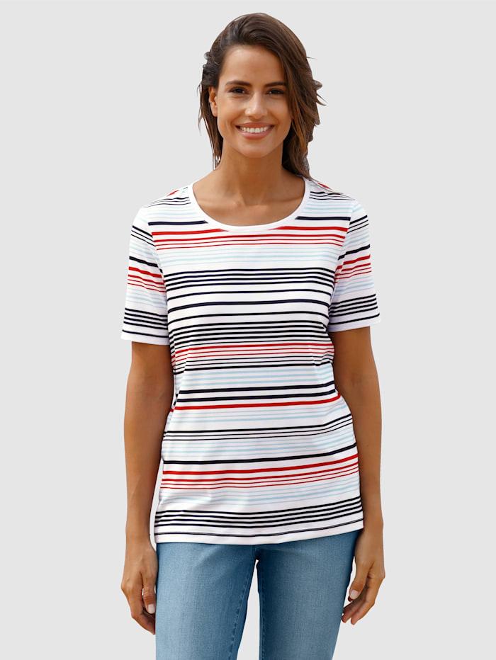 basically you Shirt mit Streifendesign, Weiß