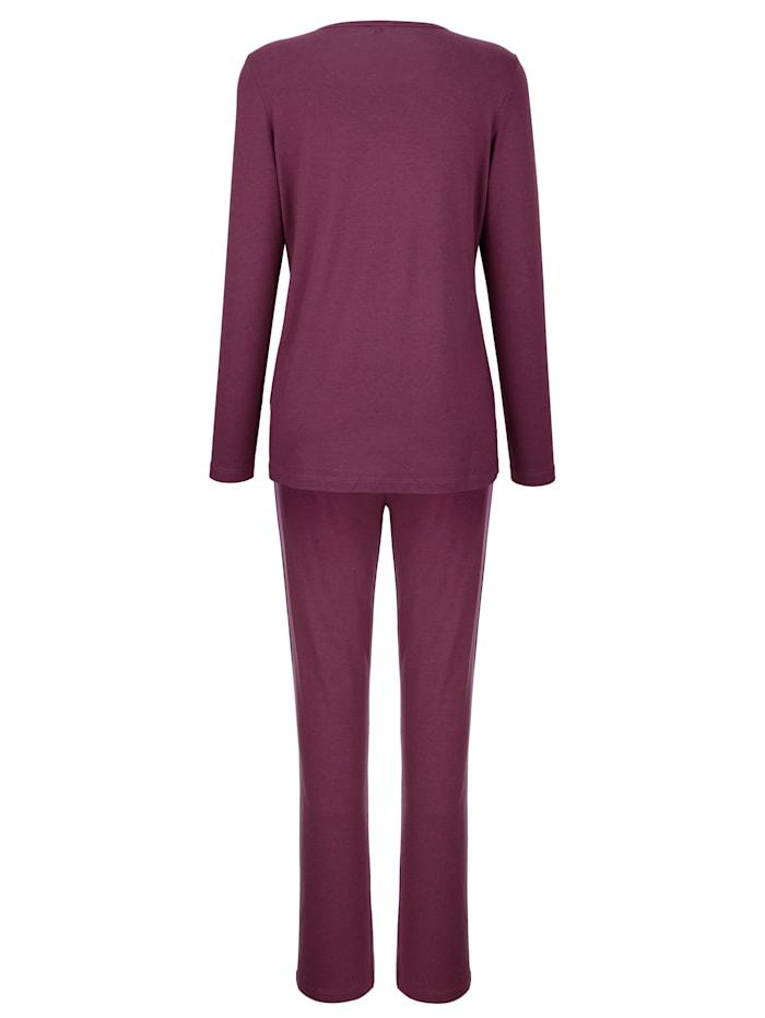 Pyjama avec jolie finition en dentelle