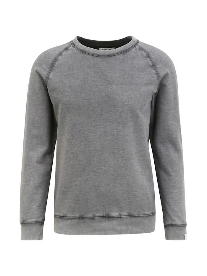 REPLAY Sweatshirt mit Raglanärmeln, ash grey