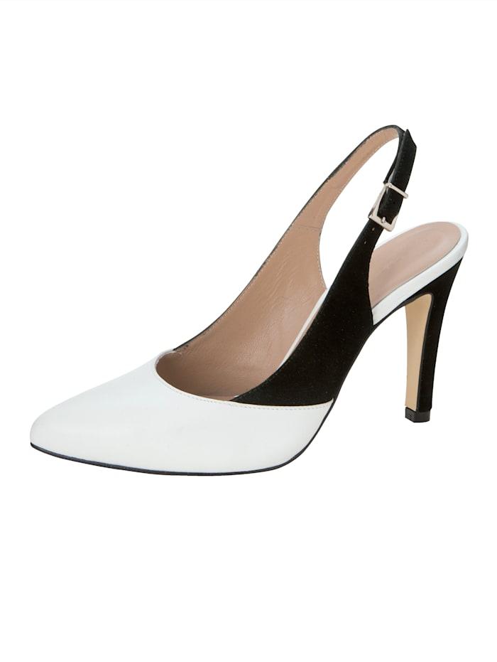 Gennia Sling in eleganter, spitzer Form, Weiß
