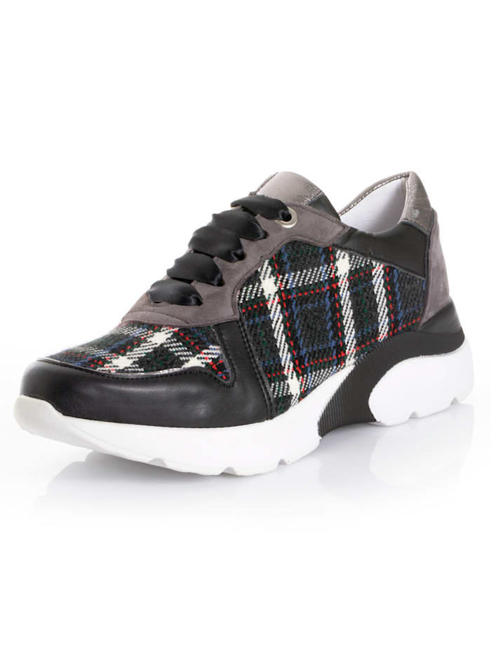 Alba Moda Sneaker im Materialmix, Blau/Grau
