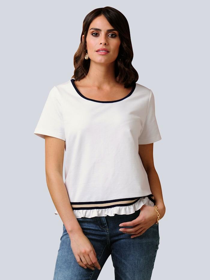 Alba Moda Shirt mit Rüschen, Weiß