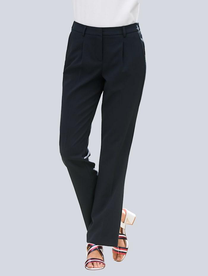 Alba Moda Hose mit weitem Bein, Marineblau