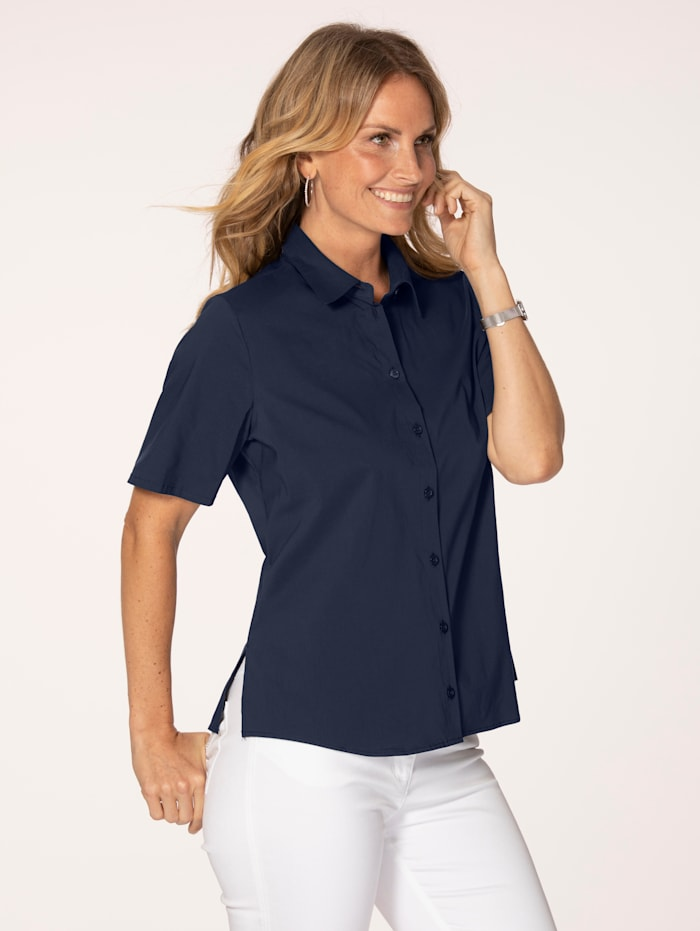 MONA Blouse with short sleeves, Navy