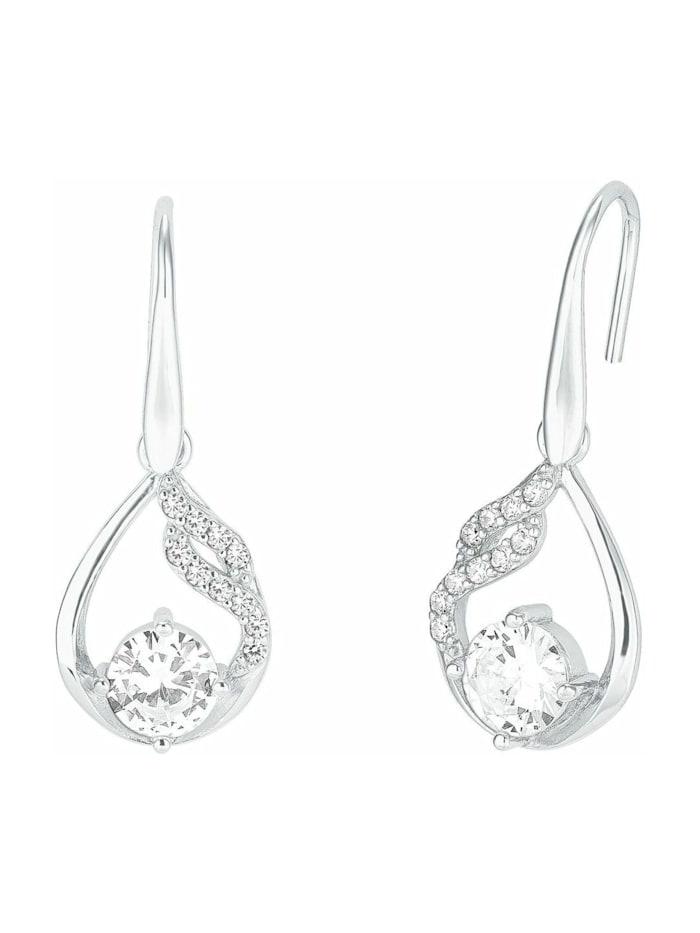 amor Ohrring für Damen, glänzendes Silber 925, Zirkonia, Silber