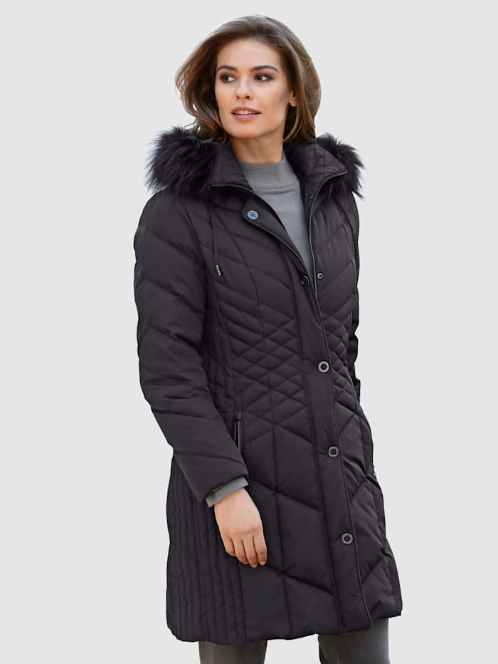 Páperová bunda s prešívaným mixom