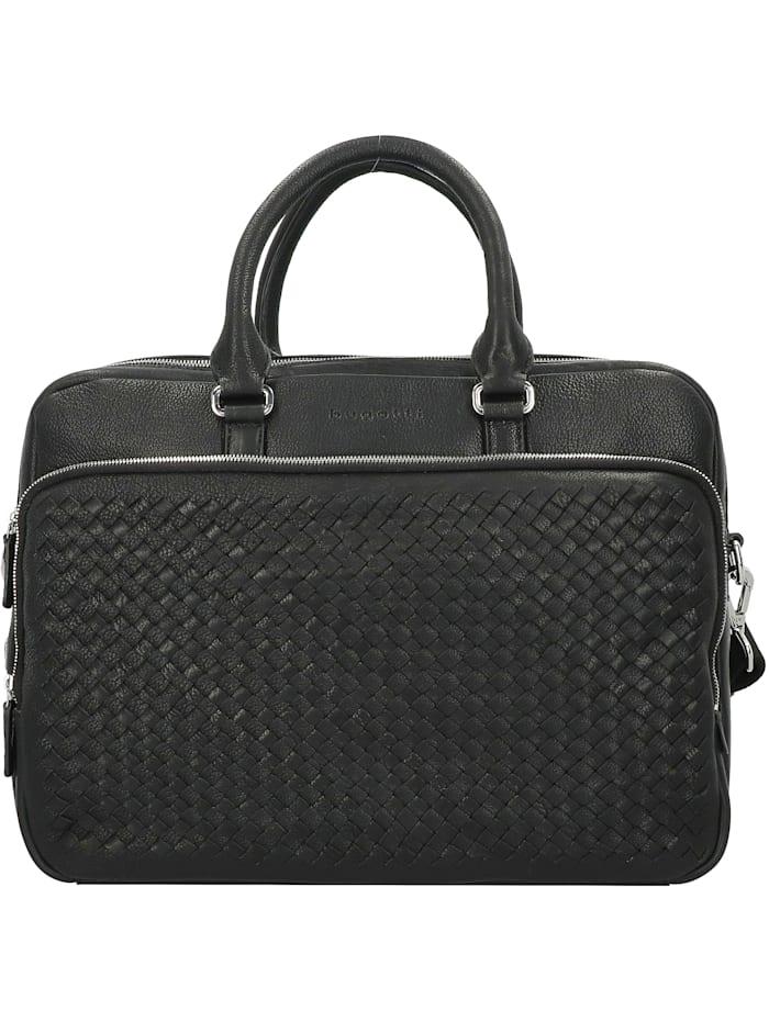 Bugatti Woven Aktentasche 40 cm Laptopfach, schwarz