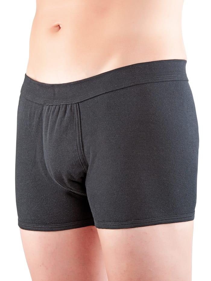 Suprima Incontinentieslip voor heren met geïntegreerd absorberend inlegverband, zwart