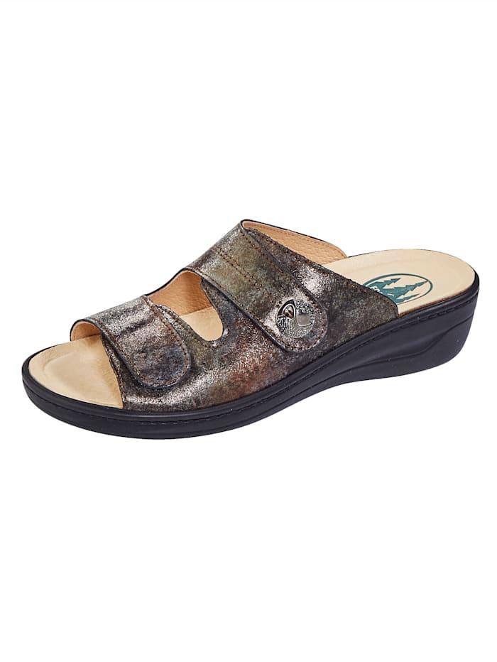 Franken Schuhe Pantolette Korkfußbett mit Moosschaumeinlage, Rost