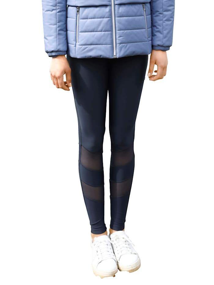 Dress In Leggings mit Mesh-Einsätzen, Marineblau