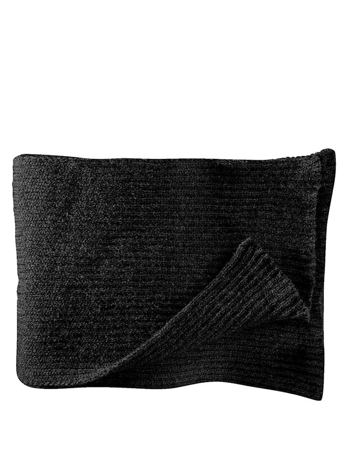 BABISTA Sjaal met geribde stuctuur, zwart