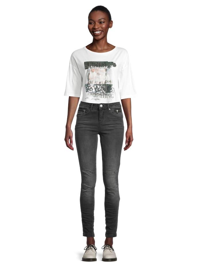 Casual-Hose Slim Fit Black denim