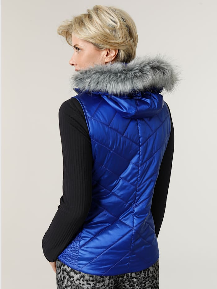 Gilet with a shimmering finish