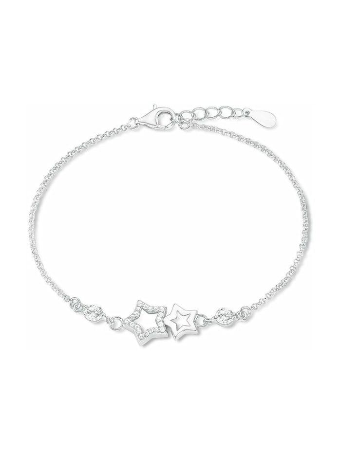amor Armband für Damen, Sterling Silber 925, Zirkonia Stern, Silber