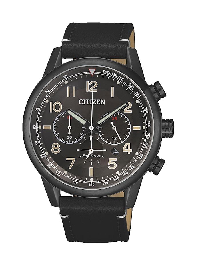 Citizen Herrenuhr-Chronograph, Eco-Drive CA4425-28E, Schwarz
