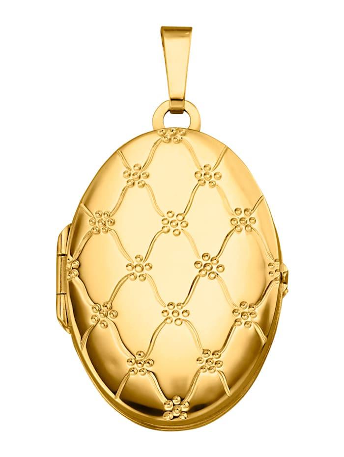 Amara Or Pendentif médaillon en or jaune 585, Coloris or jaune