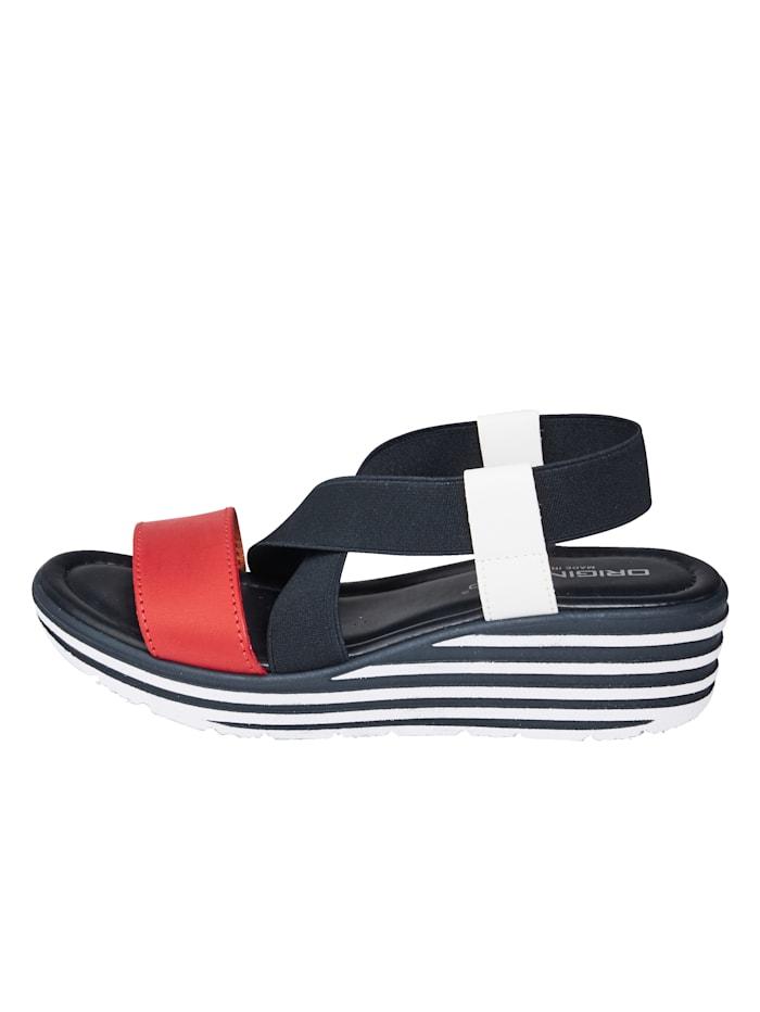 Sandaaltje met elastische gekruiste bandjes