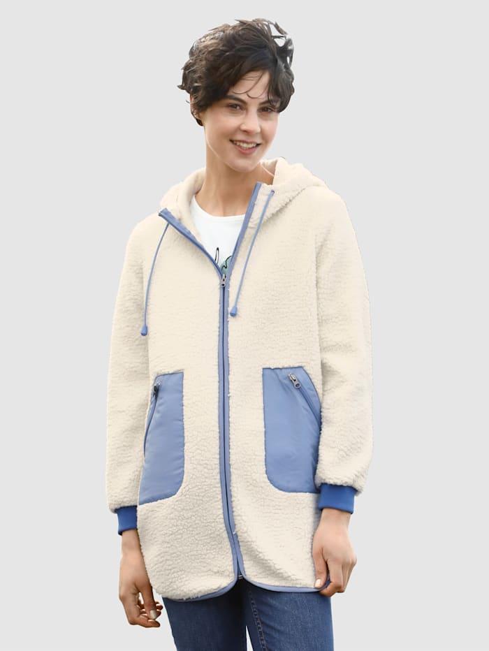 Dress In Sweat bunda s kapucňou a šnúrkou, Dymová modrá