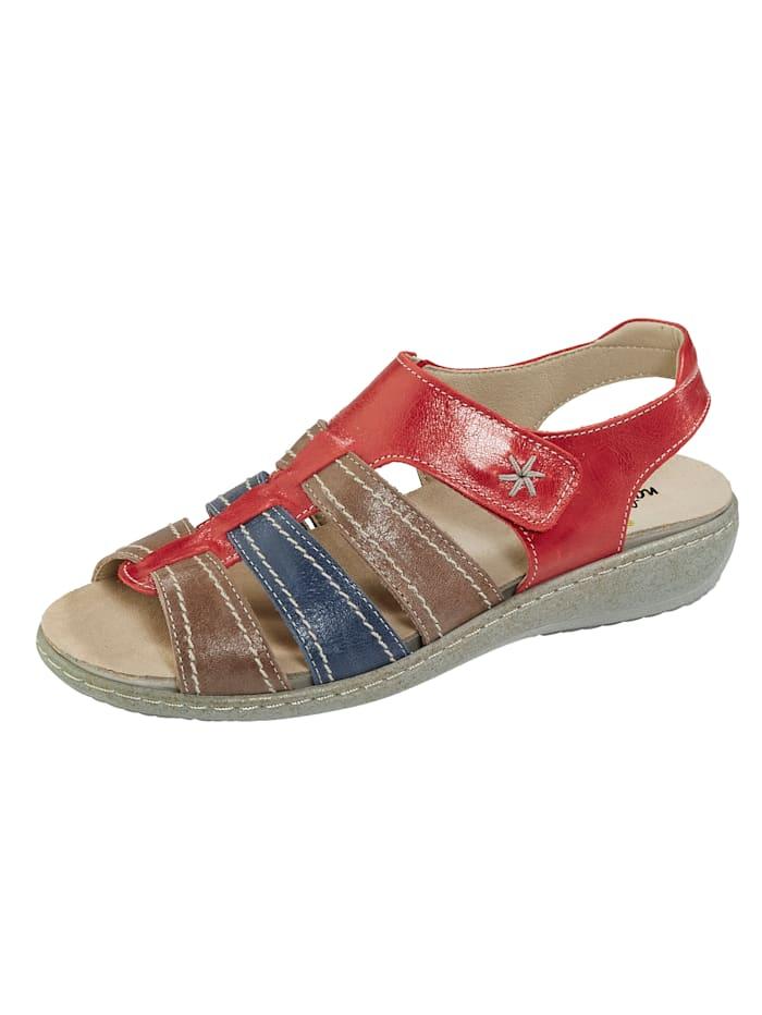 Naturläufer Sandaaltje met klittenband, Rood