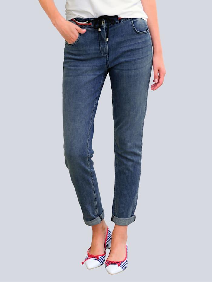Alba Moda Džíny v módním vzhledu jog kalhot, Dark blue