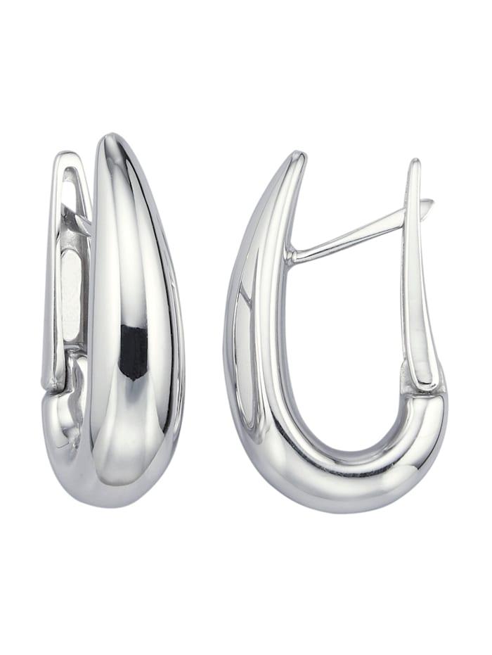 Amara Or Boucles d'oreilles en or blanc 585, Blanc