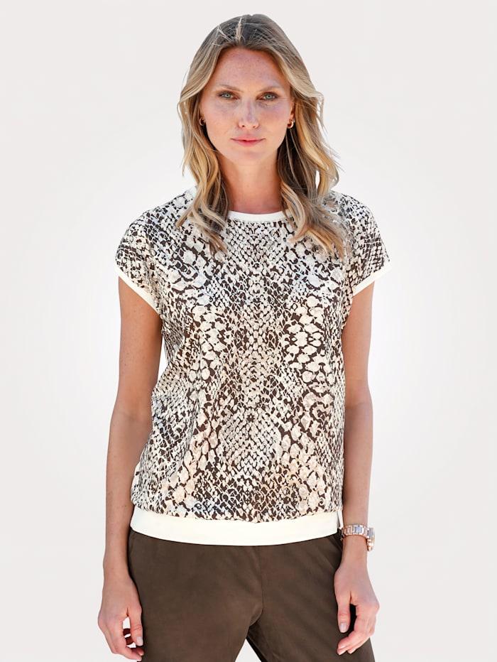 Shirt mit Schlangendruck mit Glanzeffekten