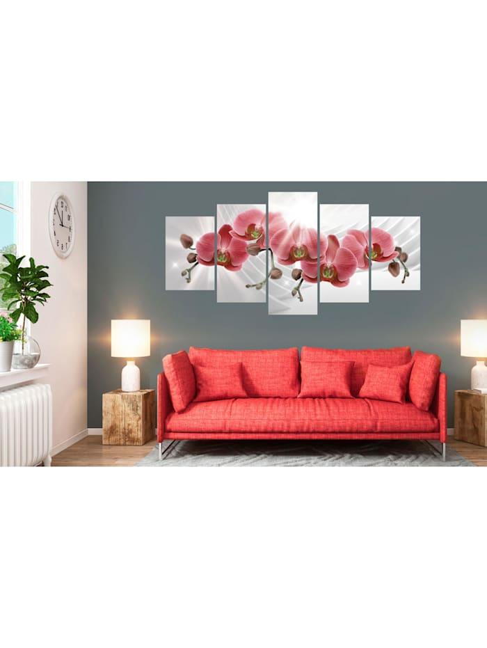 Wandbild Abstract Garden: Red Orchis