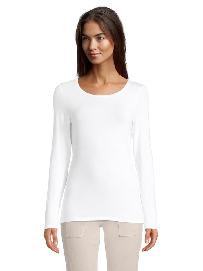 Betty & Co Basic Shirt unifarben, Weiß