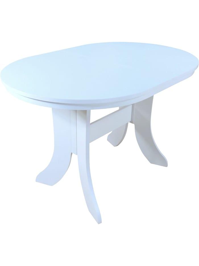 Möbel-Direkt-Online Esstisch, Breite 120-160 cm Antie, weiß