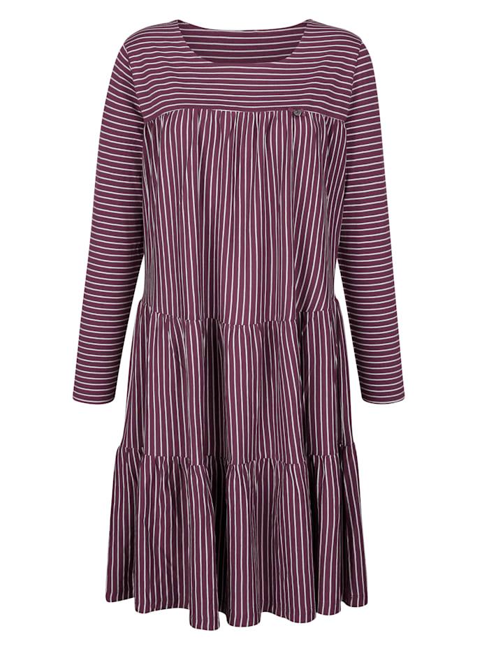 Simone Nachthemd mit leicht schwingendem Röckchenabschluss, Bordeaux/Ecru