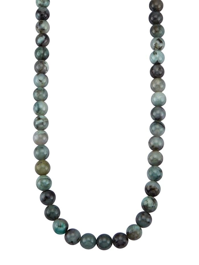 Amara Pierres colorées Collier avec émeraudes, Vert