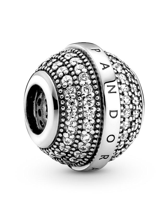 Pandora Charm -Pavé-Kugel- 799489CO1, Silberfarben