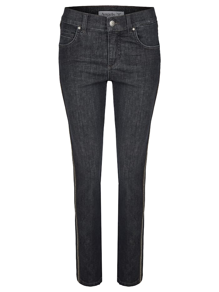 Angels Jeans 'Cici Fancy Galon' mit Glitzergalon, rinse night blue used