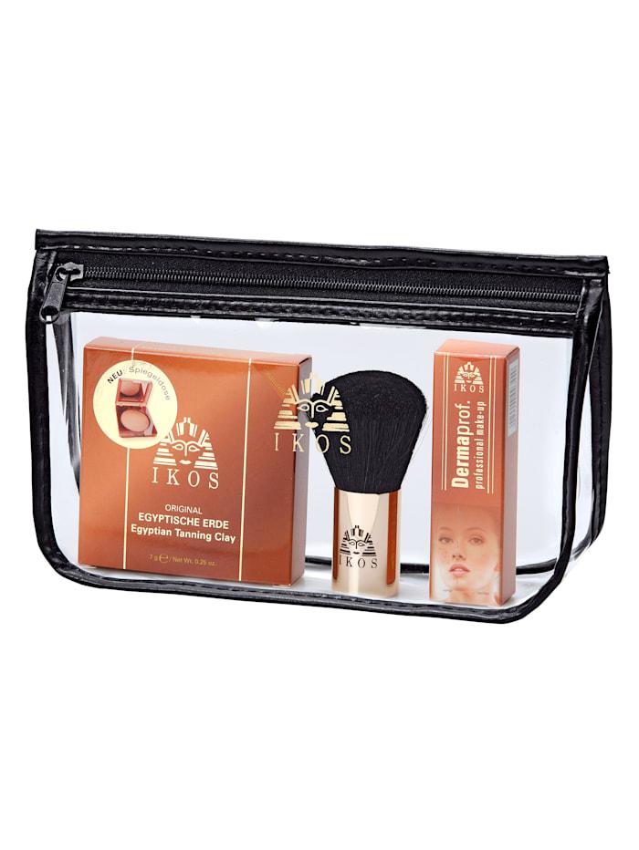 Ikos Makeup-set med puder och borste, ofärgad
