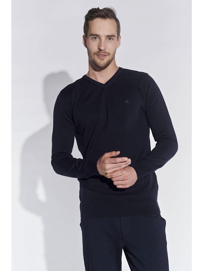 Steffen Klein Herren Basic Pullover, Marine