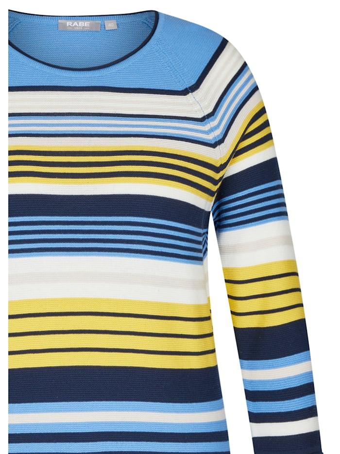 Pullover mit geringeltem Muster und Ärmeln in 3/4-Länge