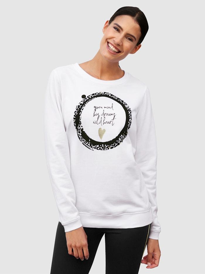 Laura Kent Sweat-shirt à imprimé placé devant, Blanc