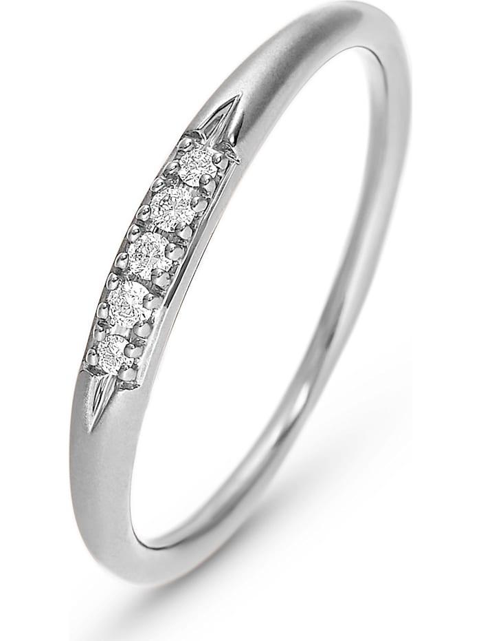 CHRIST Diamonds CHRIST Diamonds Damen-Damenring 5 Diamant, weißgold