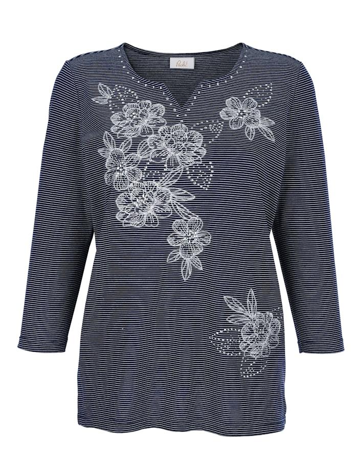 Shirt mit aufwendiger Blumenstickerei