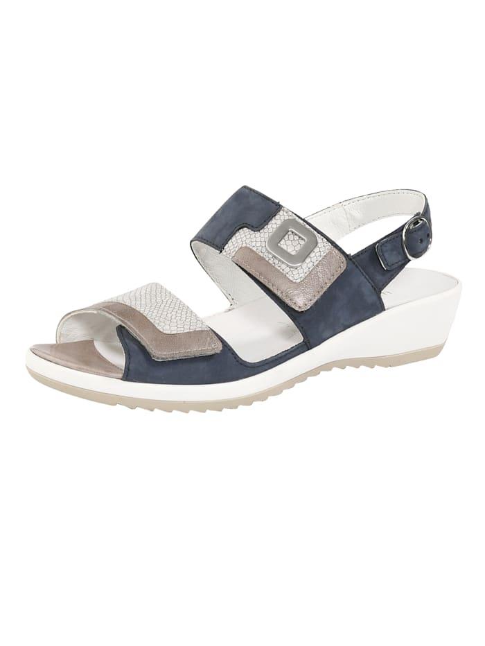 Waldläufer Sandals with adjustable straps, Blue
